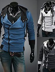Men's Hoodie / Sweats & Hoodies , Cotton / Rayon Long Sleeve Casual / Work Zipper / Fashion Winter / Spring / Fall YESS