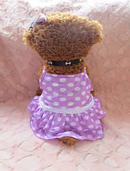 Dog Dress Purple Summer Cosplay