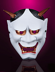 Japanese Buddhism Ghost Mask Cosplay Mask Masquerade For Halloween Party Carnival (1 Pc)