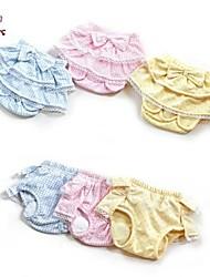 Dog / Cat Pants Blue / Pink / Yellow Spring/Fall Polka Dots / Bowknot Wedding / Cosplay