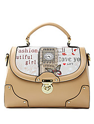HOWRU ® Women 's PU Tote Bag/Single Shoulder Bag/Crossbody Bags-Black/Wine/Almond/White/Pink/Blue
