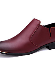 Loto Men's Shoes Black / Red / White Flat Heel Flat Oxfords (Leather)