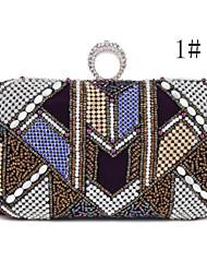 Women Casual Silk Magnetic Clutch / Evening Bag