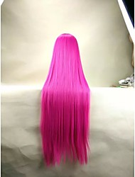 Capless Fashion Red 30inches Long  Straight Cosplay and Party Wig Top Quality Synthetic Hair Wigs Woman's Cosplay Wig