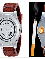 Huayue Watch Design Creative Usb Electronic Cigarette Lighter With Date Fuction Wrist Watch Cool Watch Unique Watch