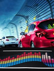 musique de voiture rythme mené la lampe flash autocollant Sound Activated égaliseur autocollant de voiture 60cm * 20cm