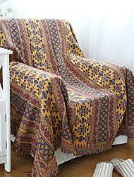 Tissé Jaune Géométrique 100% Coton couvertures 180*230