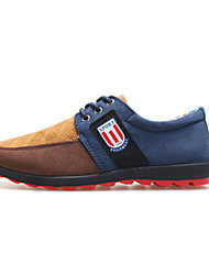 Men's Shoes Outdoor / Office & Career / Athletic / Casual Suede Fashion Sneakers Blue / Brown / Khaki