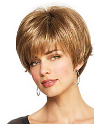 Sweet Short Hand Tied Top Human Virgin Remy Capless Hair Wigs for Woman