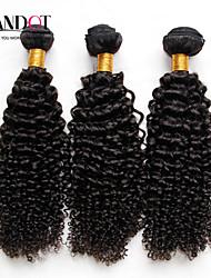 3шт много Малайзии странный вьющиеся волосы необработанные девственной человеческого плетение волос пучки Малайзии глубоко фигурные волны