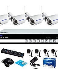 Szsinocam® 7 4CH Wifi H.264 NVR Kit(4pcs Wireless 1.0MP 3.6mm Day Night Vision Weatherproof IP Camera),P2P