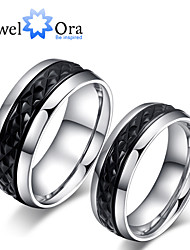 Ring Fashion Party Jewelry Steel Women Band Rings 1pc,One Size Silver