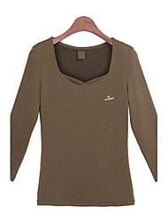 Informell Quadrate - Langarm - FRAUEN - T-Shirts ( Baumwolle )