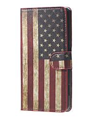 rétro drapeau américain magnétique PU portefeuille en cuir support flip cas de couverture pour Huawei Ascend Y5 / Y560