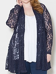 Women's Plus Size Loose Cardigan Lace Wrap  , Cowl Long Sleeve