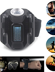 Outdoor light wrist watch tactical lights with Cree XPE lamp 400 rechargeable 4 modes of flow