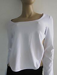 Ronde hals - Katoen - Blote rug - Vrouwen - T-shirt - Lange mouw
