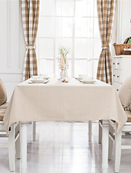 Light Brown Striped Design  Jacquard  Tablecloths Fabric Tea Tablecloth