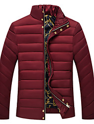 Men's Stand Coats & Jackets Plus Size, Cotton / Polyester Long Sleeve Casual / Work Fashion Winter Wshgyy