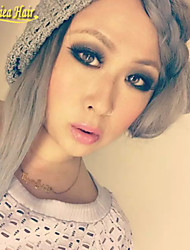 8A Virgin Malaysian Ombre Lace Wigs #1B/Grey Ombre Human Hair Wigs Glueless Full Lace Wigs Ombre Lace Front Wigs