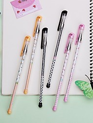 3PCS 0.35mm   Gel Pen Sign Pen Ballpoint Pens(Random Color)