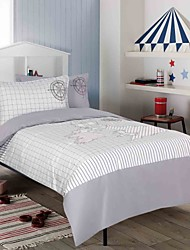 3 Piece Printed Duvet Cover Set - Super Soft Classic Print High Quality 100% Premium Cotton Hypoallergenic Bedding