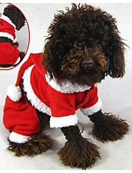 Coats / Hoodies / Pants for Dogs / Cats Red Winter Christmas / New Year's XXS / XS / S / M / L / XL / XXL Polar Fleece