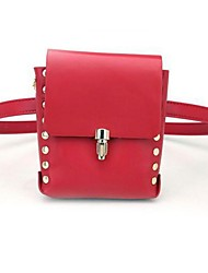 Unisex Stylish PU New Red And Black Pockets