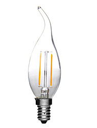 E14 2W 180LM Warm/Cool White Candle Bulbs 360 Degree LED Filament Lamp (220V)