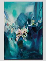 Peint à la main Paysages AbstraitsModern / Style européen Un Panneau Toile Peinture à l'huile Hang-peint For Décoration d'intérieur