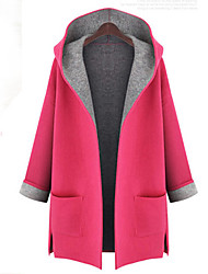 Women's Plus Size Cloth Trench Coat