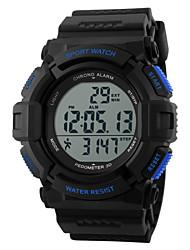 SKMEI Hombre Reloj Deportivo Reloj de Pulsera Reloj digital DigitalLCD Calendario Cronógrafo Resistente al Agua alarma Monitor de Pulso