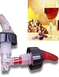 1 Unze gemessen Ausgießer Whiskyalkohol gießen freien Auslauf Weinset (gelegentliche Farbe)
