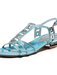 Aokang® Women's Sparkling Satin Sandals (blue) - 342818003