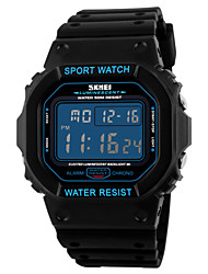 Men's Fashion Sports Square LCD Digital Rubber Band Waterproof Watch Wrist Watch Cool Watch Unique Watch