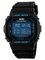 SKMEI® Men's Fashion Sports Square LCD Digital Rubber Band Waterproof Watch Wrist Watch Cool Watch Unique Watch