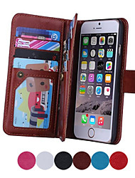 Magnetic 2 in 1 Wallet Leather+9 Card Holders+Cash Slot+Photo Frame Phone Case for Apple iPhone 6 Plus/ 6S Plus
