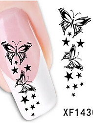 1 PCS 3D Water Transfer Printing Nail Stickers XF1430