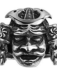 Anéis Sem Pedra Casual Jóias Aço Masculino Anel 1peça,8 9 10 11 Preto