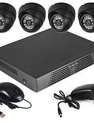 700TVL Indoor Day/Night Security Camera and 4CH HDMI 960H Network DVR System