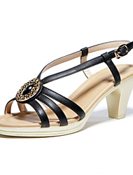 Aokang Women's Leatherette Low Heel Sandals