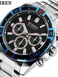 Мужской Наручные часы Кварцевый Нержавеющая сталь Группа Серебристый металл марка