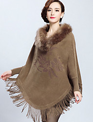 Women Faux Fur Top , Without Lining
