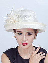 Women Sinamay Flowers  Derby Hat Fascinators Wedding Church Hat