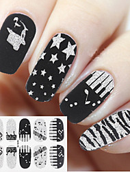 1Set   4PCS  Cute  Fashion  Nail Full Cover Nail Stickers