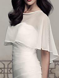 White / Ivory Brides Accessories Top Quality Handmade Bride Jacket Chiffon Shawl Bridal Jacket
