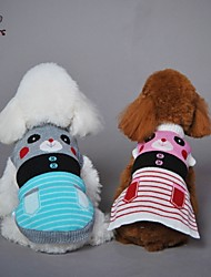 FUN OF PETS® Lovely Stripe Design Bear Pattern  Jacquard Sweather for Pets Dogs (Assorted Sizes and Colours)