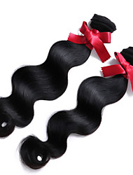 Malaysia Virgin Hair Human Body Wave Hair Weaving 2Pcs/lot #1B Color Unprocessed Body Wave Hair Top Grade