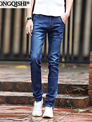 AOLONGQISHI® Men's Solid Pant,Cotton / Denim Casual BY2069-1
