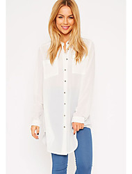 Women's Silver Button Shirt